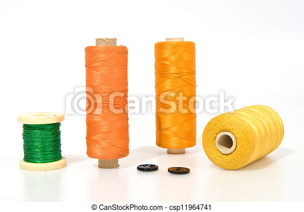 Thread isolated on a white background - csp11964741