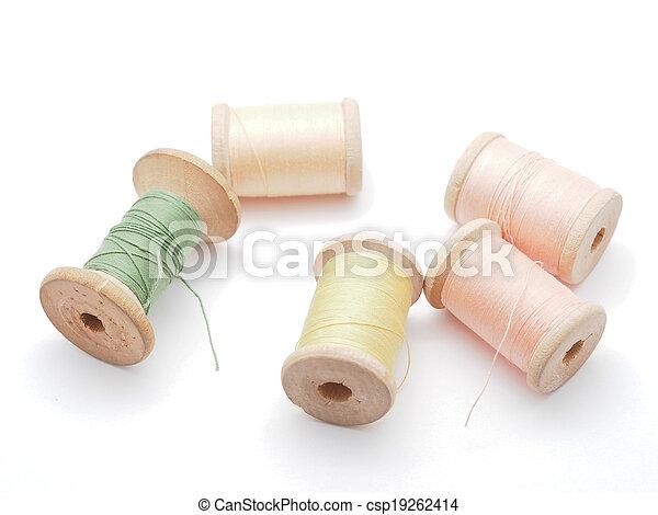 thread on white background - csp19262414