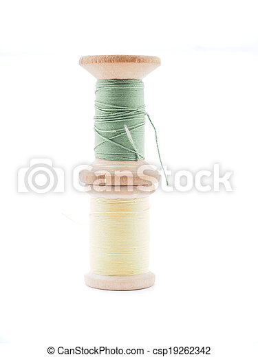 thread on white background - csp19262342