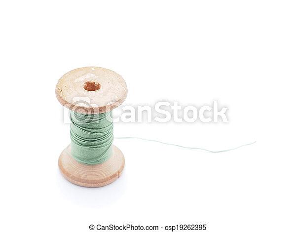 thread on white background - csp19262395