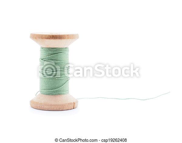 thread on white background - csp19262408