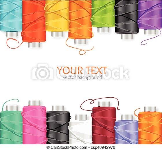 Thread Spool Banner. Vector - csp40942970