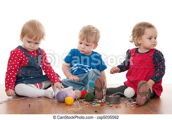 Threads of children friendship - csp5035562