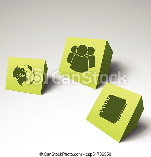 Three 3d business card set three 3d business card set with place three 3d business card set csp51786350 colourmoves