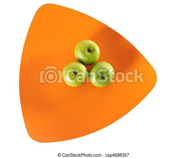 Three apples. Isolated - csp4698357