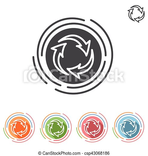 Three arrows in a circle process icon - csp43068186
