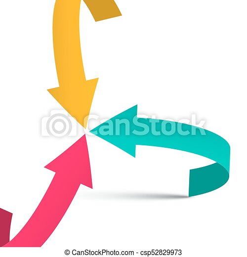 Three Arrows on White Background. Vector. Solution Symbol. - csp52829973