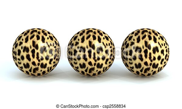 Leopard Decorative Balls Endearing Three Balls In A Leopardskinthree Balls With Leopardskin Design Decoration