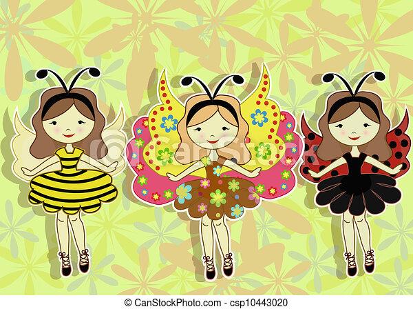 Three beautiful girls - csp10443020