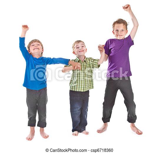three boys having fun - csp6718360