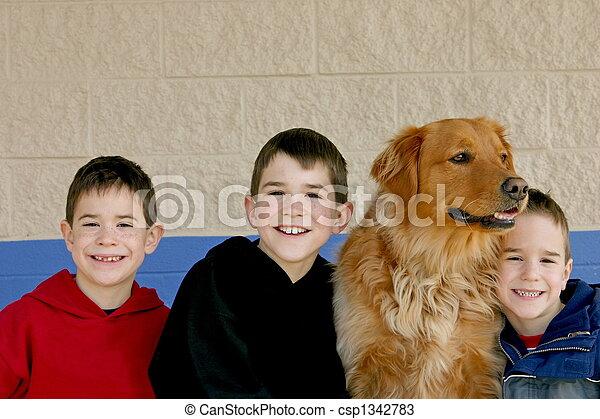 Three Boys - csp1342783