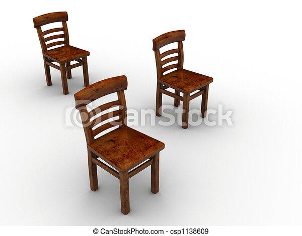 Three Chairs   Csp1138609