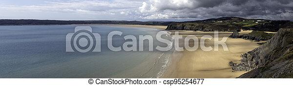 Three Cliffs Bay - Swansea, Wales, United Kingdom - csp95254677