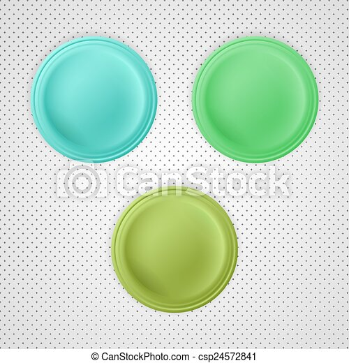 three color blank badges - csp24572841