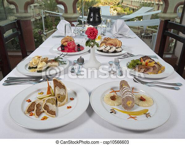 Three Course Meals In An A La Carte Restaurant Csp10566603