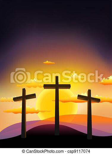 three crosses - csp9117074