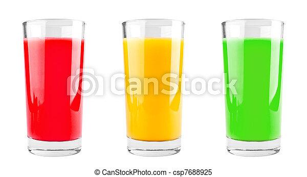 Three cups of juice - csp7688925