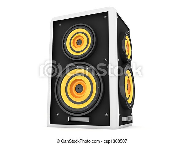 three dimensional front view of loud speaker - csp1308507