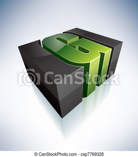 Three-dimensional H Letter - csp7769328