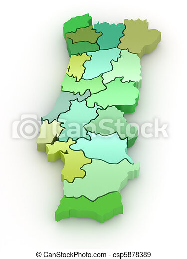 Three Dimensional Map Of Portugal 3d Three Dimensional Map Of