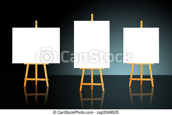 Three Easels - csp3349525