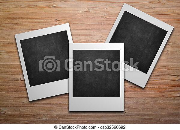 Three empty polaroids photo frames. Three blank polaroids frames ...