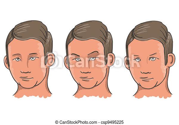 Three Facial Expressions - csp9495225