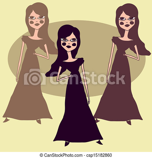 Three fashion girls - csp15182860