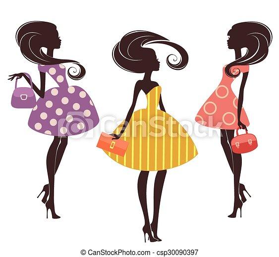 Three fashion girls - csp30090397