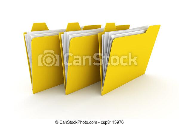 Three Folders - csp3115976