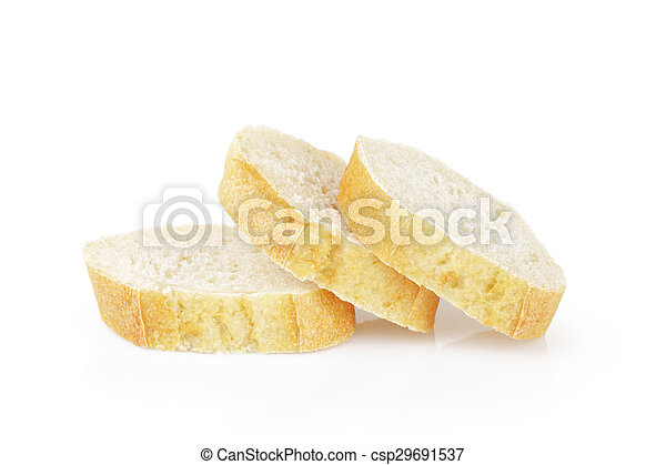 three french baguette slices - csp29691537