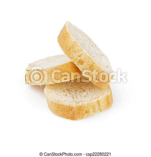 three fresh baked baguette slices - csp22280221