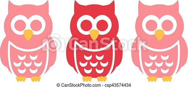 Three funny Owls - csp43574434