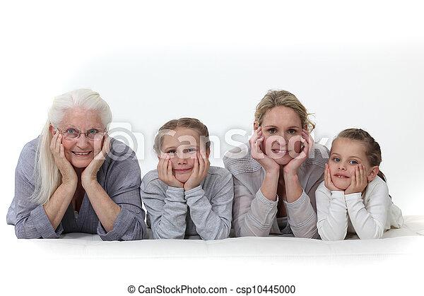 Three generations of women. - csp10445000