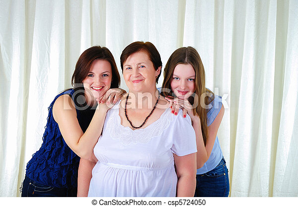 three generations of women together - csp5724050