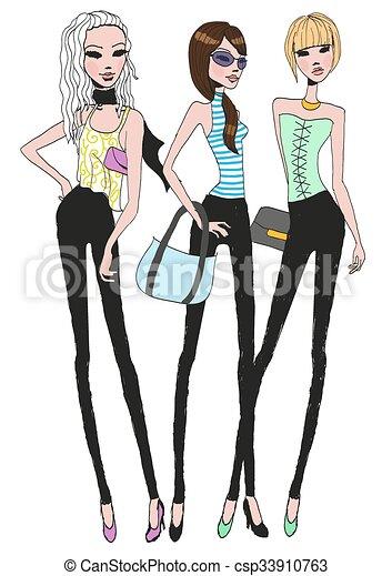 Three girls - csp33910763