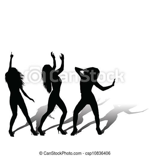 Three girls disco- - csp10836406