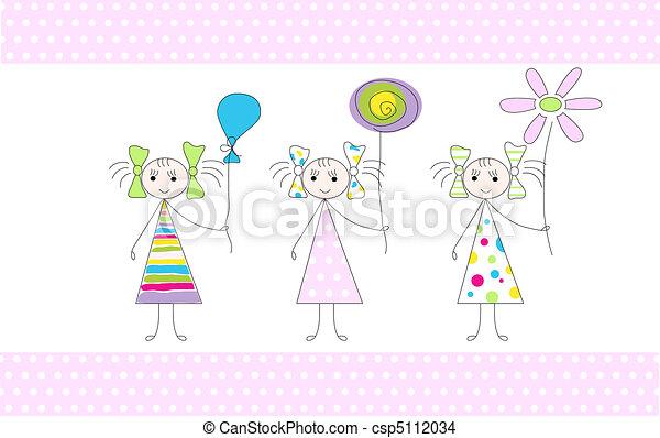Three girls - csp5112034