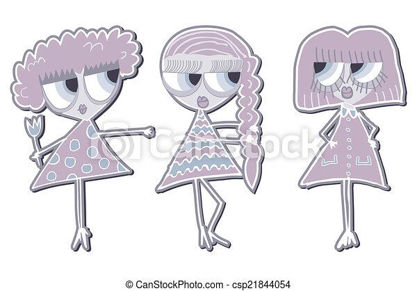 Three girls girlfriend. - csp21844054