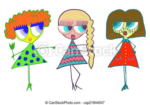 Three girls girlfriend - csp21844047