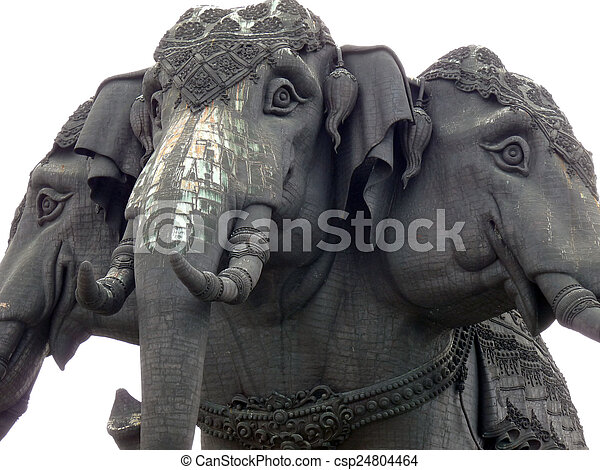 Three Headed Elephant This Is The Symbol Of The Hinduism God It Is