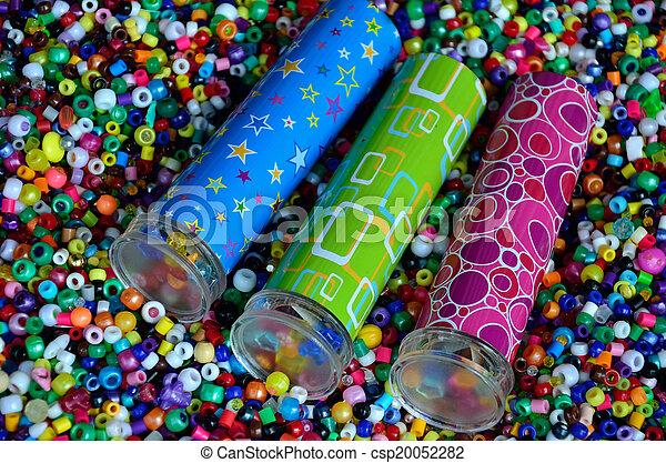 Three kaleidoscopes in beads - csp20052282