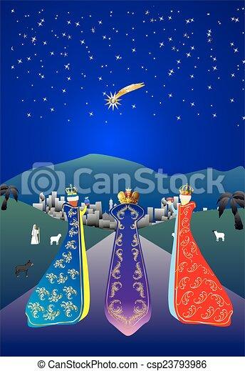 Three kings,  - csp23793986