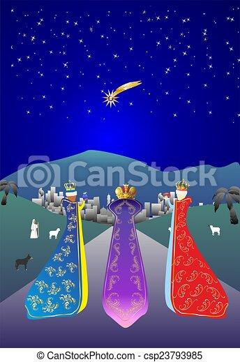 Three kings, - csp23793985