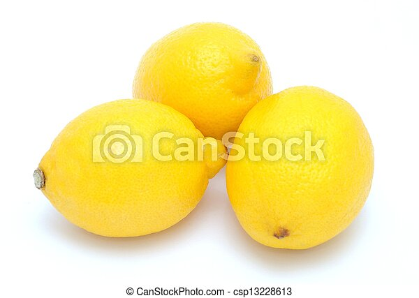 Three lemons - csp13228613