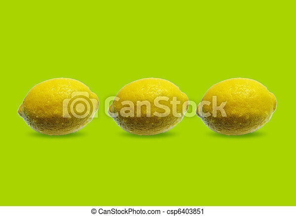 three lemons - csp6403851