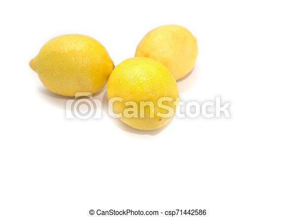 Three lemons. - csp71442586