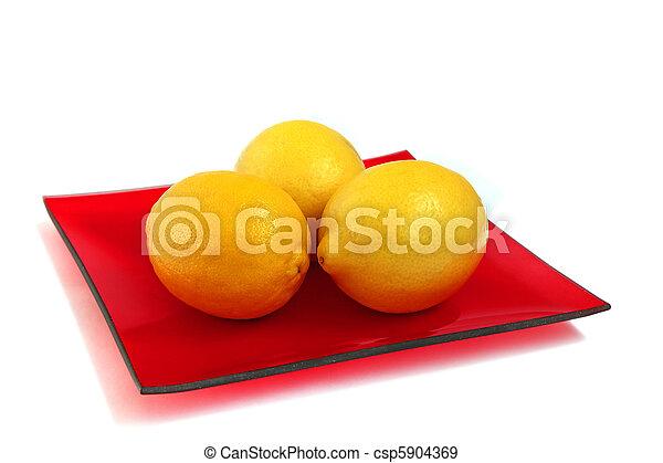 three lemons - csp5904369