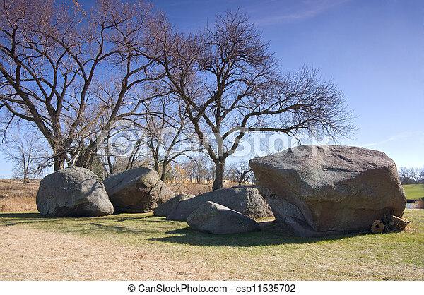 Three Maidens Rocks at Pipestone - csp11535702