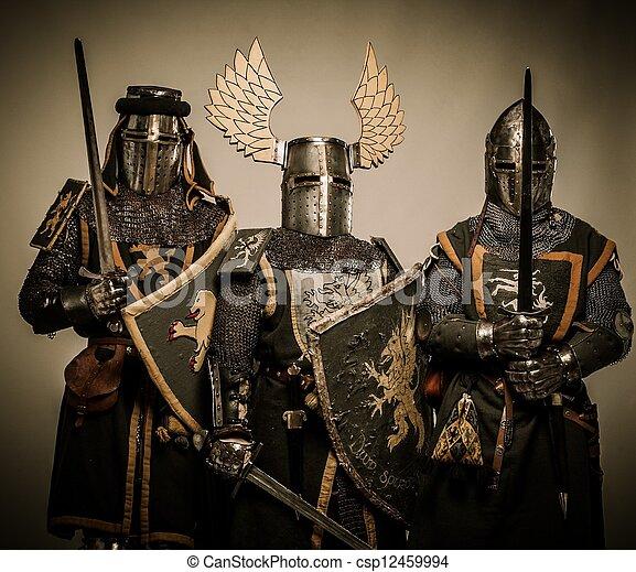 Three medieval knights - csp12459994